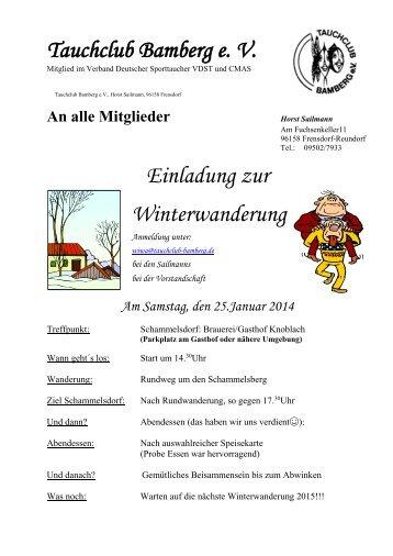 Winterwanderung - Tauchclub Bamberg eV