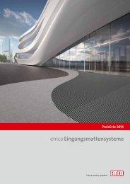 emcoEingangsmattensysteme Preisliste 2014 - Werner-Matten