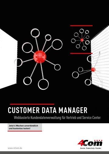 Customer Data manager - 4Com
