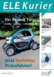ELE Kurier 03/2013 - ELE Emscher Lippe Energie GmbH