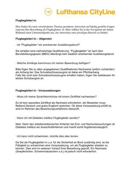 Bewerbung Als Flugbegleiter In Bewerbungsvorlagen 6 7