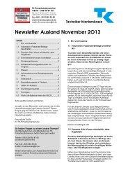 Newsletter Ausland jetzt herunterladen (PDF, 120 KB) - Techniker ...