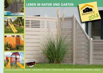 "Katalog ""Leben in Natur und Garten 2013"" - bm massivholz"