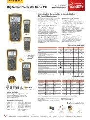 Fluke Digitalmultimeter der Serie 110 - datatec Gmbh