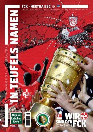 DFB-Pokal-Sonderausgabe: FCK - Hertha BSC - 1. FC Kaiserslautern