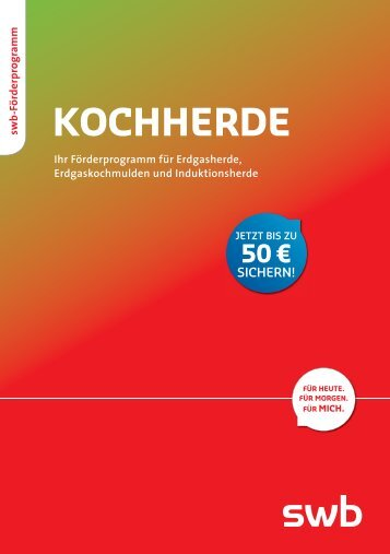 Kochherde – Ihr Förderprogramm für Erdgasherde ... - Swb