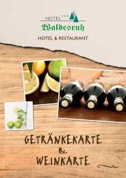 Getränke- und Weinkarte - Hotel Waldesruh