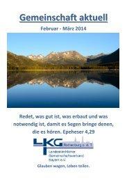 Gemeinschaft aktuell Februar - März 2014 - Landeskirchlicher ...