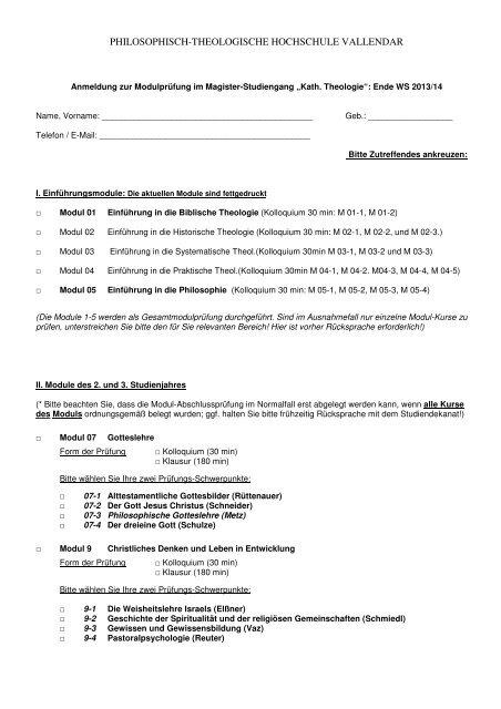 Prüfungsanmeldung Ende WS 2013/14 - Philosophisch ...