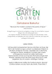 Barkarte Bülow's GartenLounge - Hotel Polar-Stern