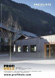 PREISLISTE - PROFI HOLZ Fink GmbH