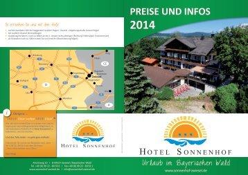 Preise & Infos 2014 - Sonnenhof Hotel Zwiesel Bayerischer Wald 3 ...