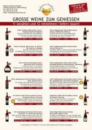 GROSSE WEINE ZUM GENIESSEN - im Badischen Weinhaus Michael