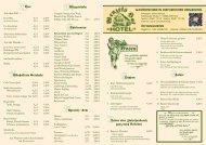 Speisekarte - Hotel Wenzels Hof