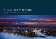 Einladung 81fünf-Jahrestagung Koblenz chronologisch - 81fünf high ...