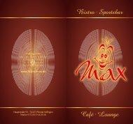 Bistro · Sportsbar Café · Lounge - Bistro Das Max