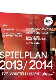 Programm Opera National de Paris 2013 2014 Live im Kino ...