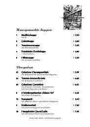 Hausgemachte Suppen2 Vorspeisen - Gasthaus Goeke