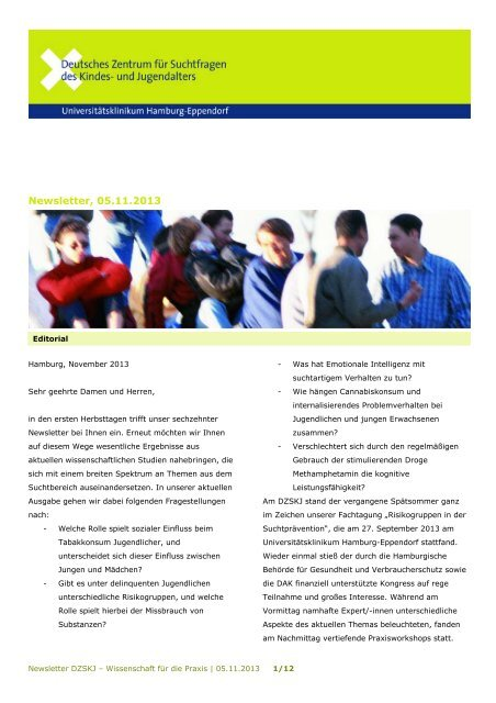 Newsletter, 05.11.2013 - Universitätsklinikum Hamburg-Eppendorf