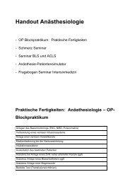 Handout Anästhesiologie