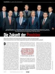 Die Zukunft der Provision - FondsKonzept AG
