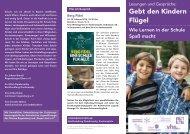 Flyer Lesereihe 2014 - Montessori Regensburg eV