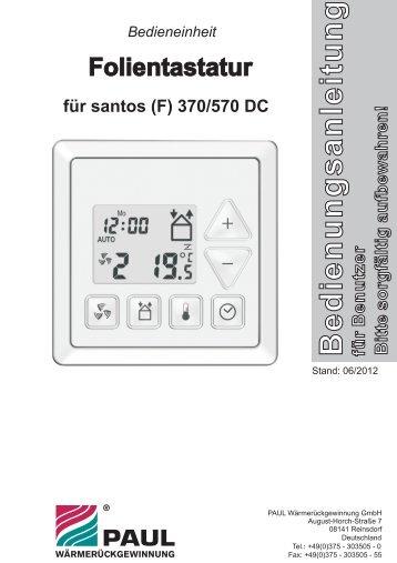 Bedienungsanleitung Folientastatur für Benutzer - Paul ...
