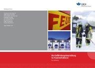 Die Gefährdungsbeurteilung im Feuerwehrdienst - Unfallkasse ...