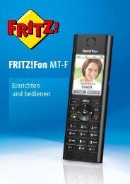 Handbuch FRITZ!Fon MT-F [pdf] - AVM