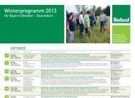 Winterprogramm Bayern - Bioland
