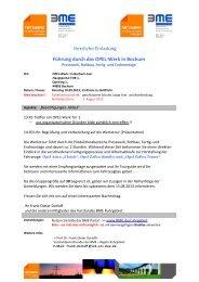 Herzliche Einladung Führung durch das OPEL-Werk in Bochum - BME