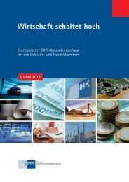 DIHK-Konjunkturumfrage Herbst 2013 - Deutscher Industrie- und ...