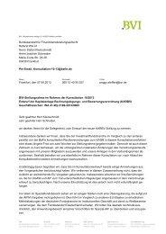 BVI Position zum Entwurf der Kapitalanlage-Rechnungslegungs