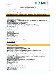 Sicherheitsdatenblatt - C. HAFNER GmbH + Co. KG