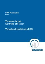 Verwaltercheckliste des DDIV - Dachverband Deutscher ...