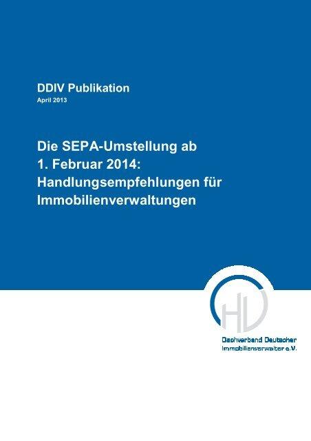 Die SEPA-Umstellung ab 1. Februar 2014 ... - DDIV