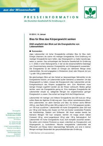 Pressetext als PDF-Dokument - Deutsche Gesellschaft für ...