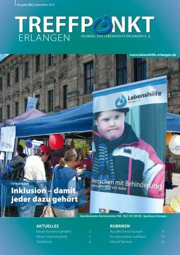 Ausgabe 52, September 2013 - Lebenshilfe Erlangen