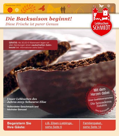 Die Backsaison beginnt! - Lebkuchen Schmidt