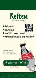 aktueller Prospekt 2014 - Reiterhof Witt