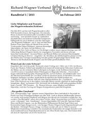 Rundbrief 1 / 2013 im Februar 2013 - Richard-Wagner-Verband ...