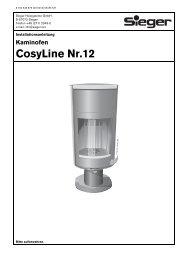 Kaminofen CosyLine Nr.12 - Sieger Heizsysteme GmbH