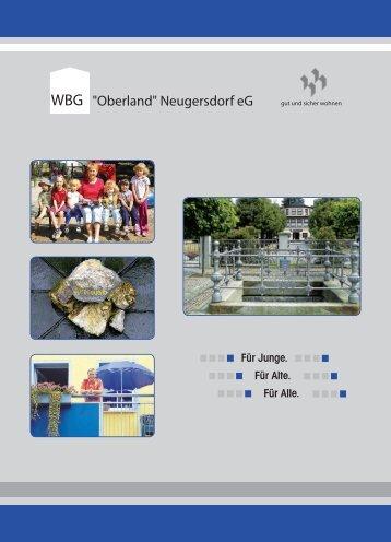 Imagebroschüre - Wohnungsbaugenossenschaft Oberland ...