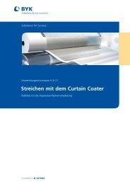 Streichen mit dem Curtain Coater - BYK Additives & Instruments