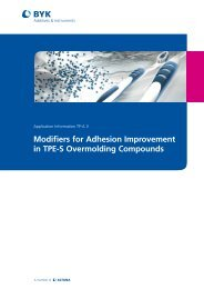 Modifiers for Adhesion Improvement in TPE-S Overmolding ...