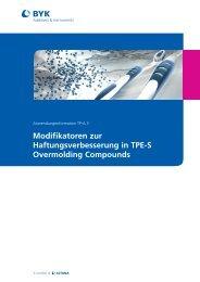 Modifikatoren zur Haftungsverbesserung in TPE-S Overmolding ...
