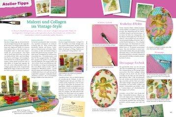 Malerei und Collagen im Vintage-Style - Efco