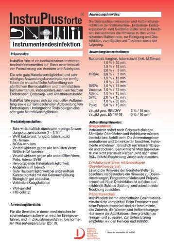 Produktblatt InstruPlus forte.indd - Laboratorium Dr. Deppe