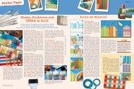 Muster, Strukturen und Effekte in Acryl - Efco