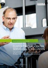 Broschüre Customer Care Center, Services & Schulungen - DESMA